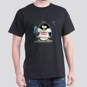 linux Penguin Dark T-Shirt