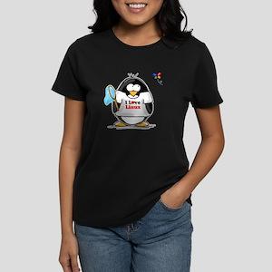 linux Penguin Women's Dark T-Shirt