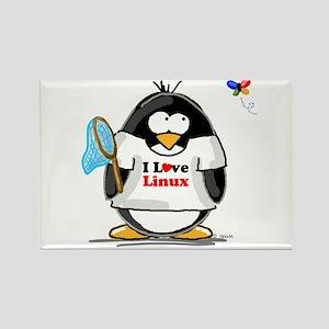 linux Penguin Rectangle Magnet