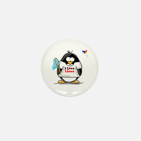 linux Penguin Mini Button
