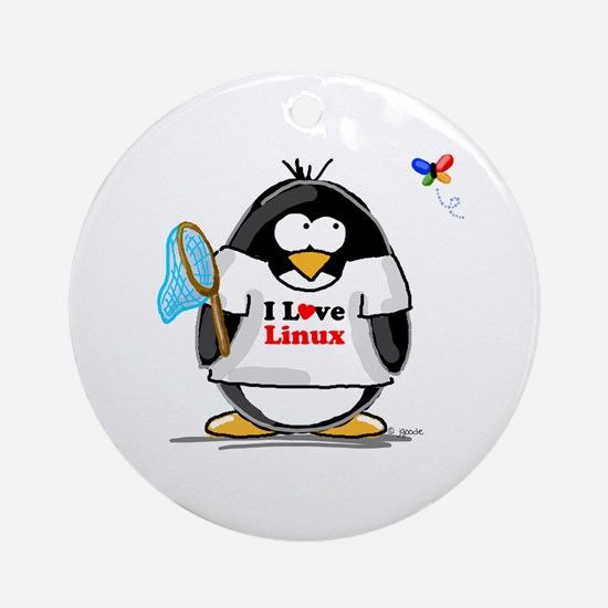 linux Penguin Ornament (Round)
