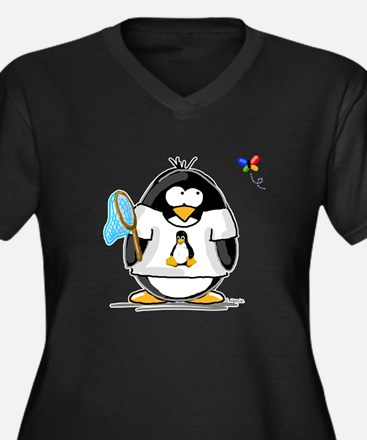 linux vs windows Penguin Women's Plus Size V-Neck