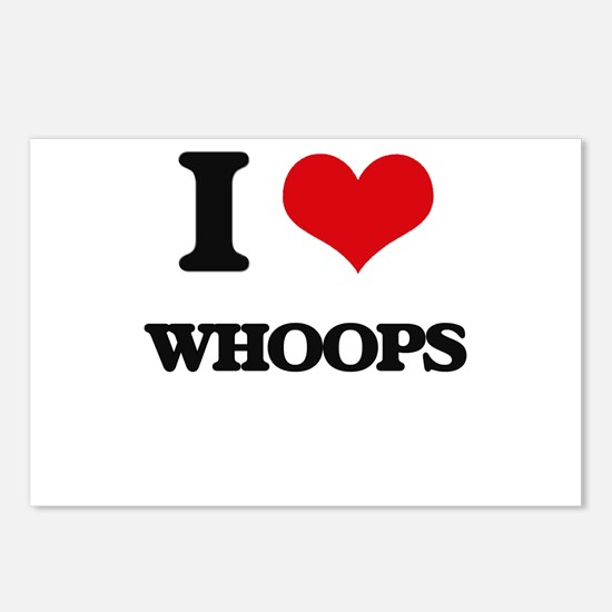 I love Whoops Postcards (Package of 8)