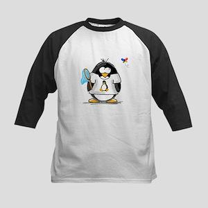 linux vs windows Penguin Kids Baseball Jersey