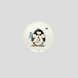 linux vs windows Penguin Mini Button