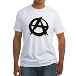 Anarchy-Blk-Whte Fitted T-Shirt