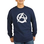 Anarchy-Blk-Whte Long Sleeve Dark T-Shirt