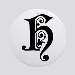 H-pre black Ornament (Round)
