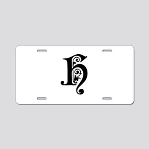 H-pre black Aluminum License Plate