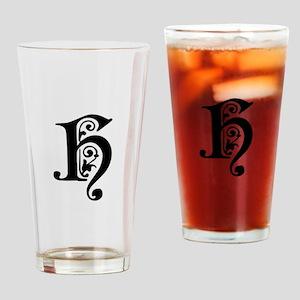 H-pre black Drinking Glass