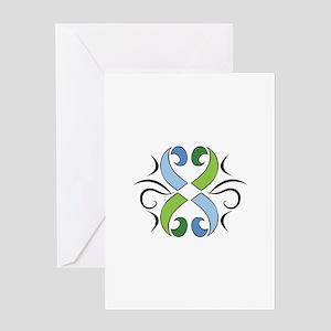 TRIBAL FLOWER Greeting Cards