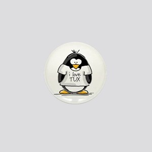 Love Tux Penguin Mini Button