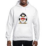 Heart tux Penguin Hooded Sweatshirt