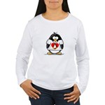 Heart tux Penguin Women's Long Sleeve T-Shirt