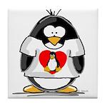 Heart tux Penguin Tile Coaster