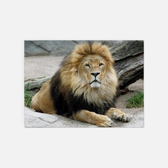 Lion_2014_1001 5'x7'Area Rug