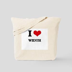 I love Width Tote Bag