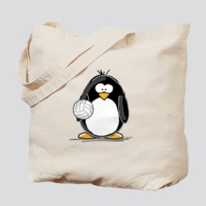 volleyball Penguin Tote Bag