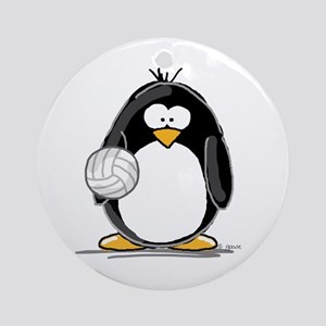 volleyball Penguin Ornament (Round)