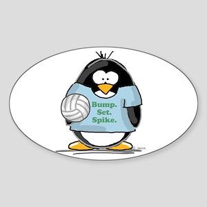 volleyball bump set spike Pen Oval Sticker