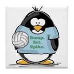 volleyball bump set spike Pen Tile Coaster