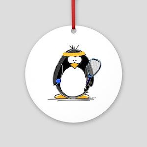 racquetball Penguin Ornament (Round)