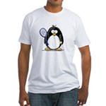 Tennis Penguin Fitted T-Shirt