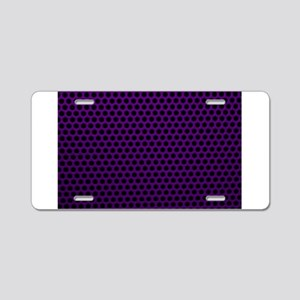 Purple Metal Mesh Aluminum License Plate