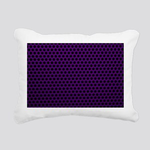 Purple Metal Mesh Rectangular Canvas Pillow