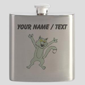 Custom Excited Cat Flask