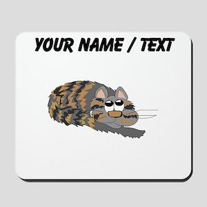 Custom Cat Curled Up Mousepad
