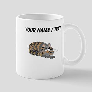 Custom Cat Curled Up Mugs