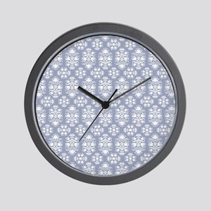 Victorian Blue Lace Damask Wall Clock