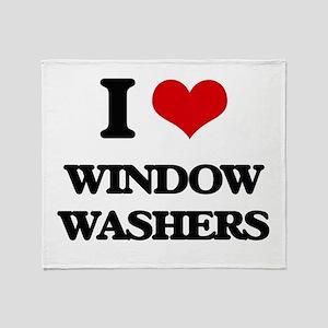 I love Window Washers Throw Blanket