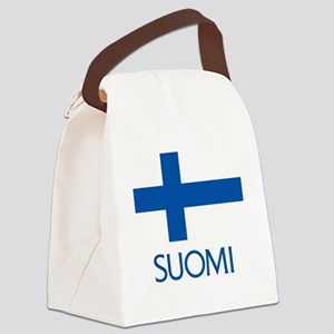 Suomi Flag Canvas Lunch Bag