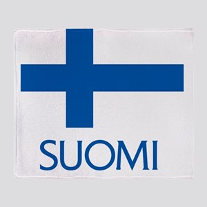Suomi Flag Throw Blanket