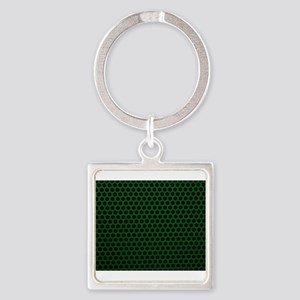 Forest Green Metal Mesh Keychains