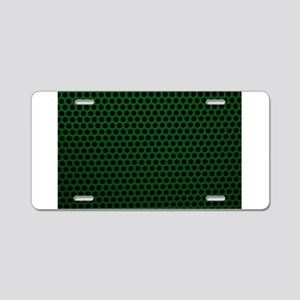 Forest Green Metal Mesh Aluminum License Plate
