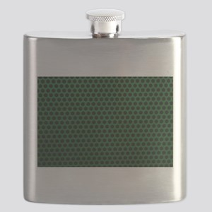 Forest Green Metal Mesh Flask