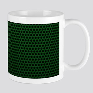 Forest Green Metal Mesh Mugs