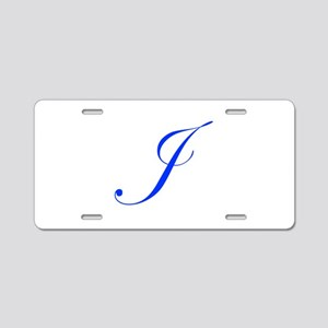 J-edw blue Aluminum License Plate