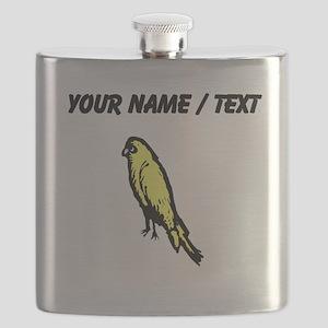 Custom Yellow Canary Flask