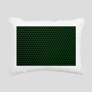 Forest Green Metal Mesh Rectangular Canvas Pillow