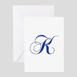 K-cho blue2 Greeting Cards