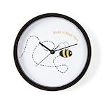 2nd Bee Flying Fancy Wall Clock