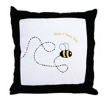 2nd Bee Flying Fancy Throw Pillow