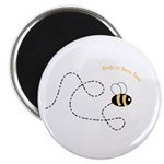 2nd Bee Flying Fancy Magnet