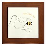 2nd Bee Flying Fancy Framed Tile
