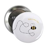 2nd Bee Flying Fancy Button
