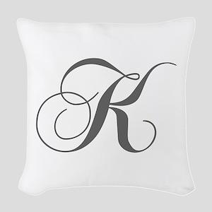 K-cho gray Woven Throw Pillow